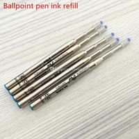 ingrosso ricaricare la penna d'inchiostro blu-Qualità MB Ballpoint penna a sfera inchiostro nero e blu refill monte penna scrittura refill per mb penna