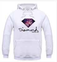 sudadera con capucha de diamantes al por mayor-Marca Diamante Impresión Hombres Hip Hop Hoodies Hombres Sudadera Skateboard Pullover Masculino Hoodies con capucha