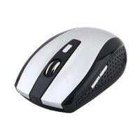 scrollrad usb optisch großhandel-5 Tasten + 1 Scroll Wheel Mäuse mit USB-Empfänger 2.4GHz Wireless Optical Mouse für PC Laptop Neueste Drop Shipping Großhandel