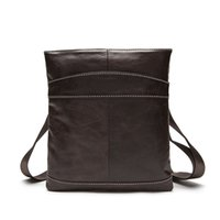 Wholesale first cell phones resale online - Genuine Leather Business shoulder bag Messenger small square handbag The first layer of leather Cell Phone Pocket Crossbody bags