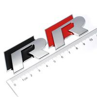 chrome lining 도매-1Pc 금속 3D 크롬 R 라인 로고 배지 엠 블 럼 VW 골프 5 6 7 룰렛 레이싱 자동차 스티커 Touareg Tiguan Passat B6 B7 Jetta Sharan