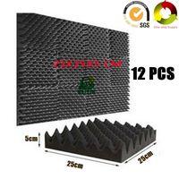 tuiles de son achat en gros de-12 PCS Fireproof Egg Crate Acoustique Foam Studio Panneaux Insonorisés Sound Absorption Tile Pro Audio Équipement Sound Treatment Board 10X10X2
