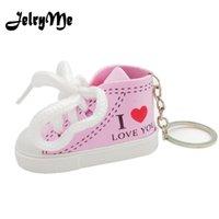 bayan anahtarlıkları toptan satış-Simülasyon kadın Ayakkabı Sneakers Anahtarlıklar Çanta Kolye Trendy 2018 Kalp Anahtar Yüzükler Tutucu Sevimli Araba Anahtarı Zincirleri Bayanlar Takı