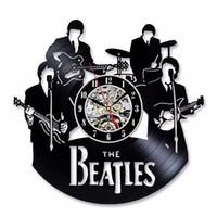детские часы оптовых-Новое прибытие виниловые записи настенные часы The Beatles музыка питомник искусство CD часы творческий декоративные для дома