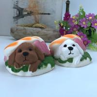 Wholesale Dogs Draw - Slow Rising Squishies PU Simulation Hamburger Dog Child Toys Kawaii Elastic Stretch Jumbo Squishy New Arrival 8 5sya B