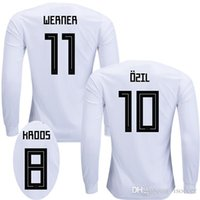 Wholesale Germany Black Jerseys - Long sleeve GerManY 2018 soccer jerseys WERNER gERMaNy world cup football shirt MULLER OZIL GOTZE REUS KROOS Camiseta SANE GORETZKA maillot