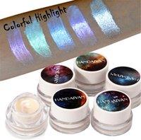 renk sihirli makyaj toptan satış-HANDAIYAN Yeni Yüksek Pigmentler Işıltılı Vurgulayıcı Makyaj Magic Color Yüz Şekillendirici Glow Bronzlaştırıcı Vurgulayıcı Marka Kozmetik