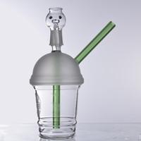 mini tasses de starbucks achat en gros de-Starbucks Cup Bongs en Verre petit mini 18.8mm Pipes à eau Rigs Dab et Rigs pour Huile Ronds en Verre Narguilé
