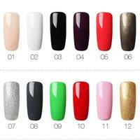 nagellack helle farben großhandel-Rosalind 01-58 Farbenserie Gel Nagellack Bright Colorful Gel Lack zum Stanzen Brauchen Sie TopBase Coat Lack
