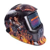 ingrosso protezione occhiali-Maschera per caschi di saldatura automatica oscurante automatica Mig Tig MMA maschera / cappuccio saldatore / occhiali saldatore / strumento di saldatura per saldatore