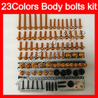 Wholesale kawasaki 1998 7r fairing for sale - Group buy Fairing bolts full screw kit For KAWASAKI ZX7R ZX R ZX750 ZX R Body Nuts screws nut bolt kit Colors