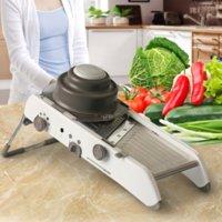 multifunktionale reibe großhandel-Umweltfreundliche verstellbare Mandoline Slicer Multifunktionale Gemüsereibe Shredder Slicer Cutter Set, Küchenzubehör Edelstahl