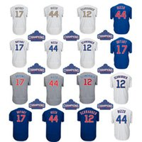 Wholesale Kris Bryant - Kris Bryant Mens Jersey White Gray Blue Anthony Rizzo Javier Baez Kyle Schwarber Baseball Jerseys Stitched