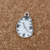 Wholesale clock charms for sale - Group buy Melting Clock charm Pendant Hot sell Antique Silver alloy Jewelry DIY mm A
