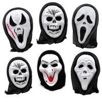 suministros de la fiesta de esqueleto al por mayor-Halloween Skull Mask Scary Ghost Mask Scream Costume Party Creepy Skull Horror Skeleton Masks Cosplay Prop Halloween Suministros GGA1166