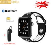 arc android großhandel-Dm09 plus smart watch 2.5d arc hd bildschirm unterstützung sim karte tragbare geräte smartwatch magic knob für ios android