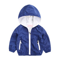 Wholesale coats sports for kids for sale - Group buy New Korean Style Solid Windbreaker Kids Jacket Boys Outerwear Coats Children Hooded Sports Clothing For years