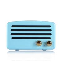 mini orador sem fio do metal do bluetooth venda por atacado-Mini Bluetooth Speaker Portátil Sem Fio Bluetooth Speaker Retro Rádio FM Áudio Móvel Mini Retro Alto-falantes