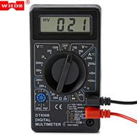 voltmetre testi toptan satış-Dijital Multimetre AC DC Voltmetre Yeni Multimetro Gerilim Akım Direnci Test Cihazı Için Elektrik Multimetre Diyot Testi Ücretsiz Shippiing VB