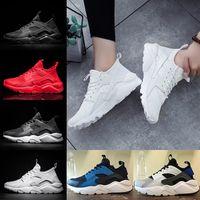 Wholesale Huaraches Basketball Shoes - 2018 Air Huarache 4 Running Shoes For Mens Women Huaraches 1 Triple black white Red Runs Ultra Breathable Mesh Sports Sneakers Eur 36-45