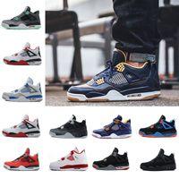 Wholesale hot plush - Drop Shipping Wholesale Basketball Shoes Men 4 Dan 4s Sneakers Boots Authentic Discount Outdoor Hot Sale Sports Shoes US 8-13