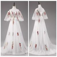 vestidos de noche de encaje princesa línea al por mayor-2019 Apliques de encaje blanco cariño Vestidos de baile Vestidos de noche de tul Cordones Atrás Una línea Vestidos de señora Princesa hermosa