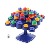 Wholesale stacking blocks - Baby Stacking Toys Colorful Building Blocks Desktop Game Plastic Block Intelligence Games Educational DIY Toy Gift bl W