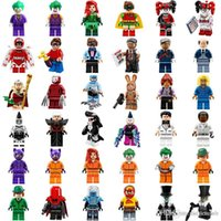 Wholesale figures toys harry potter - Minifig Super Heroes Avengers Spiderman Space Wars Harry Potter Hobbit Figure Super Hero Mini Building Blocks Figures Toys