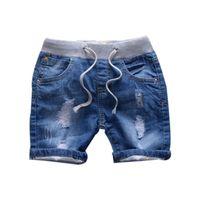 neue mode jeans mädchen jungen großhandel-Mode Jeans Shorts für Jungen Denim Jungen Höschen Lässig Neue Jeans Shorts für Kinder Mädchen Sommer Stil