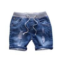 ingrosso nuovi jeans dei bambini di stili-Pantaloncini jeans moda per ragazzo Pantaloncini jeans ragazzo casual Pantaloncini jeans nuovi per bambini Stile estivo ragazze