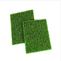 ingrosso tappeto falso-Micro paesaggio decorazione fai da te mini fata giardino simulazione piante artificiale finto muschio decorativo prato tappeto erboso erba verde 15x15 cm