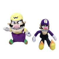 Wholesale toys children mario bros online - New Arrival Cotton cm Wario cm Waluigi Super Mario Bros Plush Doll Stuffed Toy For Child Best Gifts mk2 W