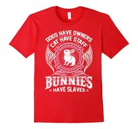 Wholesale Blue Staff - Bunny Tshirt Dogs have owners Cat have staff Bunnies have