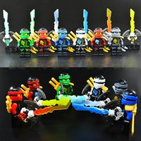 ingrosso bloccare i pirati giocattolo-Sky Pirate Ninja con arma Zane Nya Kai Lloyd Cole Nya con Skybound Djinn Blade Sword Mini Building Block Toy Figure Decool 10023-10028