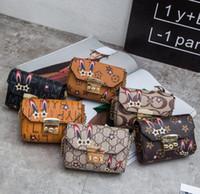 Wholesale handbags princess - Children bag lovely rabbit ears handbag princess single shoulder bag kids stars letter floral print chain crossbody bags