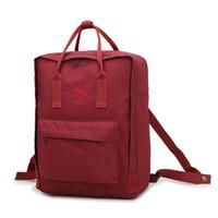 mochila grande para hombre al por mayor-Suecia Moda Unisex Lienzo Mochila Mochilas Escolares Satchel Mujeres Hombres Llanura Casual Gris Claro Bolsa de Ordenador de Viaje al aire libre de gran capacidad