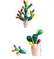 yapı mozaik toptan satış-Ahşap yapı Taşları Yaratıcı Mozaik oyuncak tuğla Çocuk Bebek Hediyeleri Dikenli Armut Kaktüs Mozaik Montaj Yıkım Oyuncaklar 28 Adet / takım DHL 12