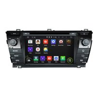 Wholesale car dvd din toyota corolla - Car Audio Player Octa Core 1024*600 Android 6.0 Car DVD GPS Navigation Multimedia Player Car Stereo for Toyota Corolla 2014 Radio Bluetooth