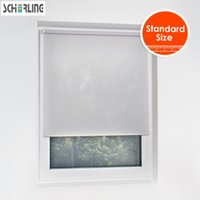Wholesale Modern Window Blinds - Solid Color Half Shading Daylight Roller Blinds Modern design Nordic style for Living room for bedroom small window blinds