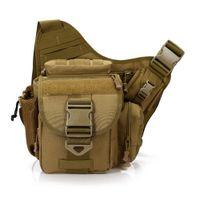 Wholesale military water bags resale online - Men s Military Water Bottle Nylon Travel Shoulder Cross body Messenger Camera Saddle Multi purpose Bag
