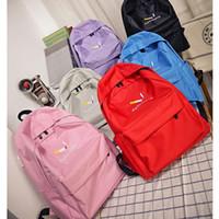 Wholesale Teenage Girl Canvas Backpacks - mochilas mujer 2017 Canvas Bag Female Korean Backpack For Women School Student Teenage Girl Mochila Escolar Women Backpack