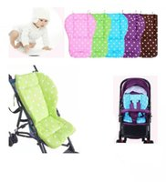 Wholesale trolley stroller - Baby Stroller Cushion Safety Seat Pad baby infant dot cotton baby stroller mats Stroller accessories Trolley Cushion Head Protection Pad