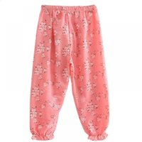 Wholesale floral leggings for girls resale online - Pantalon Spring Kids Cute for Loose Girl Boy Breathable Floral Leggings Flower Printing Trousers Baby Summer Pants