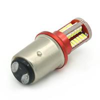 1157 bay15d оптовых-1 шт. P21 / 5 Вт светодиодный автомобиль BAY15D светодиодная лампа 1157 Хвост Сигнал Стоп-сигнал Задний стоп-сигнал DRL 5 Вт 3014 57 светодиод smd Желтый Красный 6000 К Белый