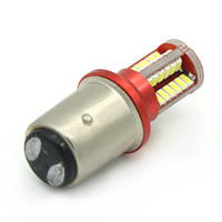 Wholesale 1157 smd - 1pcs P21 5W LED Car BAY15D led Bulb 1157 Tail Signal Brake Stop Reverse DRL Light 5W 3014 57 led smd Yellow Red 6000K White