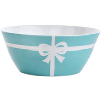 Wholesale eco china tableware for sale - Group buy blue Ceramic tableware inch bowls disc breakfast Bow bone china dessert bowl cereal salad bowl dinnerware good quality Wedding Gifts