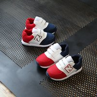 Wholesale Sport Wear Kids Boy - 2018 New children's casual shoes boys comfortable non-slip sports baby Running shoes girls fashion wear Athletic Shoes kids sneakers