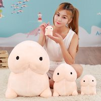 Wholesale lovely gifts for girlfriend resale online - 20cm cm Size Creative Cute Penis Plush Toys Tintin Pillow Sexy Soft Stuffed Funny Cushion Simulation Lovely Dolls Gift for Girlfriend