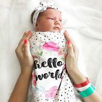 neugeborener baby sack großhandel-Babyschlafsack Newborn Baby Blanket Swaddle Print Schlafsack Kids Sleep Sack Kinderwagen Wrap Baby Swaddle Bag