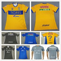 Wholesale custom h - 2018 Mexican League Club Tigres UANL Soccer Jersey 4 H. Ayala 8 ZEL ARAYAN 9 VARGAS 10 GIGNAC 18 SOSA Custom Football Shirt